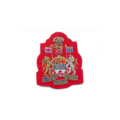 Canadian Royal Arms No1 Dress on Scarlet