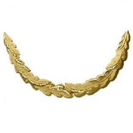 1 ROW GOLD OAK-LEAF PEAK EMB - LONG