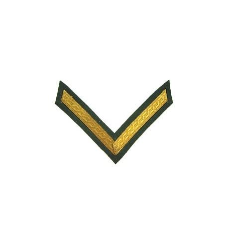 1 Bar Chevron Gold on Rifle Green No1