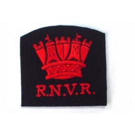 ROYAL NAVY VOLUNTEER RESERVE BLAZER BADGE (RED SILK)