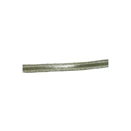 VELLUM LACE - SILVER MYLAR - 1/4 INCH