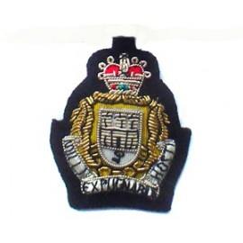 GIBRALTAR REGIMENT SIDE CAP BADGE - ARMY