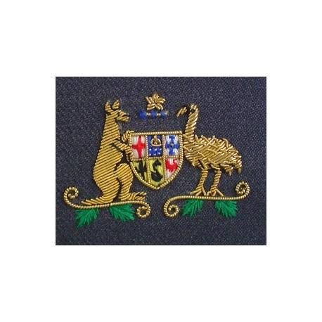 AUSTRALIA HOUSE COLLAR BADGE