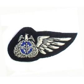 KUWAIT AIR FORCE HALF WING ON BLACK IN SILKS