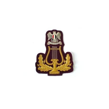 LIBYA ARMY BAND LYRE BADGE