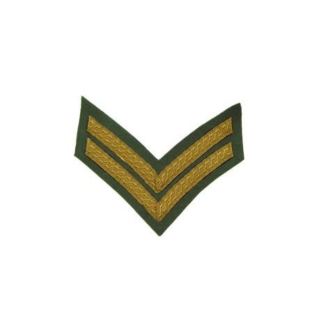 2 Bar Chevron Mess Dress Gold on Rifle Green