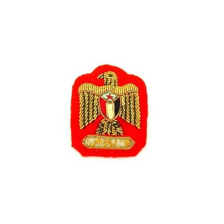 YEMEN ARMY RANK EAGLE ON RED