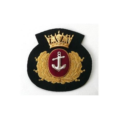 MERCHANT NAVY CAP BADGE - BLACK CROWN CUSHION