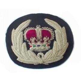CHIEF CONSTABLE CAP BADGE - CROWN IN WREATH